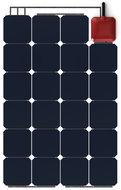 Solbian ALLinONE SP72 flexibel zonnepaneel met ingebouwde acculader