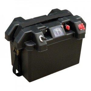 Haswing accubox deluxe, accubak met accu indicator en 12V aansluiting