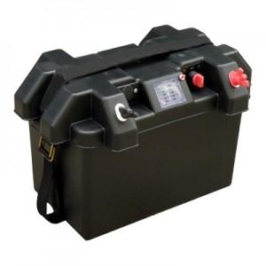 Marine Smartbox, accubak met accu indicator en 12V aansluiting met zekering