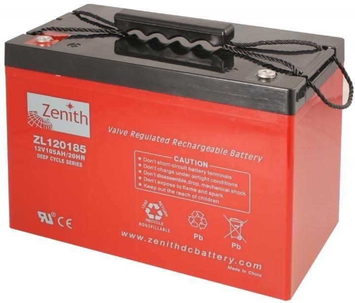 Zenith 12 volt 105Ah AGM - Deep Cycle Accu