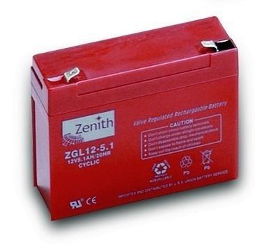 Zenith 12 volt 5Ah AGM - Deep Cycle Accu