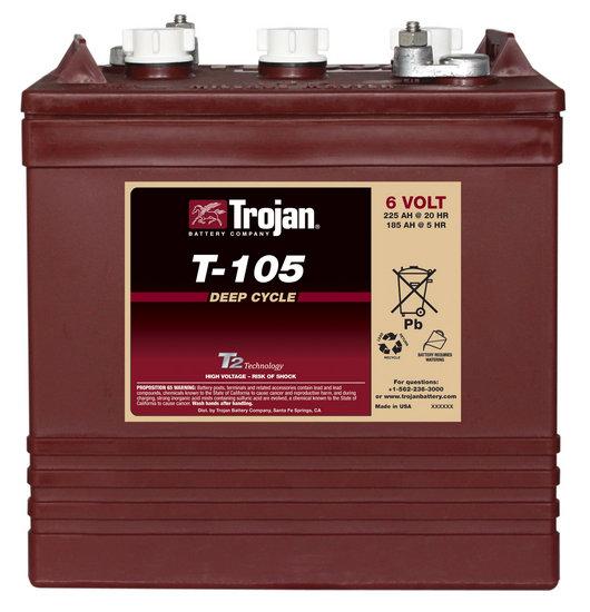 Trojan T-105 6V deepcycle accu