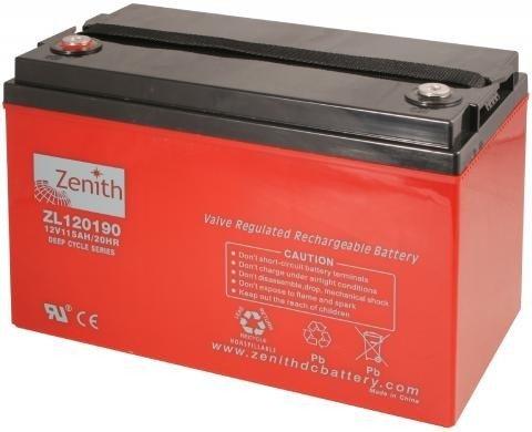 Zenith 12 volt 115Ah AGM - Deep Cycle Accu