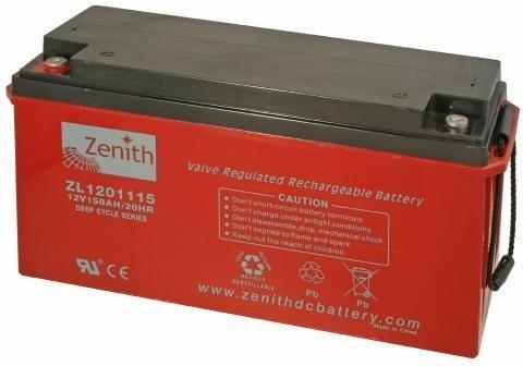 Zenith 12 volt 160Ah AGM - Deep Cycle Accu
