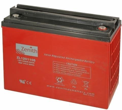 Zenith 12 volt 130Ah AGM - Deep Cycle Accu