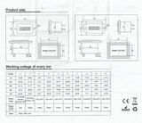 Batterij indicator, inbouw 12/24V +/-_