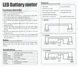 Batterij indicator, inbouw 48V +/-/c_