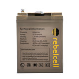 Rebelcell 24 Volt - 50Ah Angling li-ion Accu met 12A acculader_