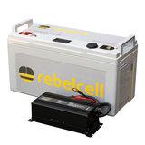 Rebelcell 24 volt 100Ah Angling li-ion Accu set incl. lader_