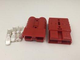 Set van 2 Rode Anderson stekkers connectors 50 Ampère 16mm2 kabel dikte