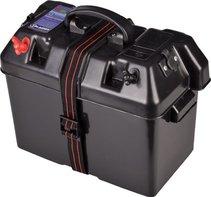 TIJDELIJK NIET LEVERBAAR. Marine Smartbox, accubak met accu indicator en 12V aansluiting met zekering