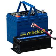 Rebelcell 12V70V PACK lithium accu en bijpassende lader 12,6V20A