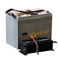 Rebelcell 24 Volt - 50Ah Angling li-ion Accu met 12A acculader