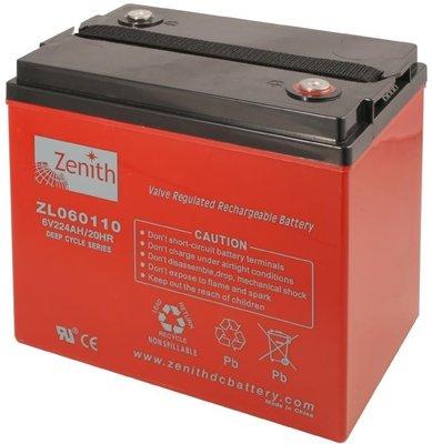 Zenith 6 volt 224Ah AGM - Deep Cycle Accu