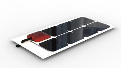 Solbian ALLinONE SP23 - flexibel zonnepaneel met ingebouwde acculader
