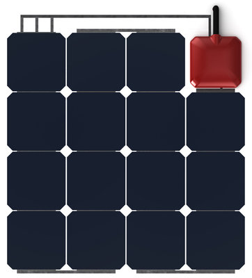 Solbian ALLinONE SP47Q - flexibel zonnepaneel met ingebouwde acculader
