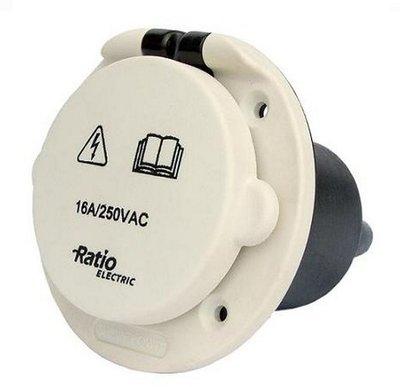 Walstroom stopcontact contactdoos CE kunststof 16A 250 Volt