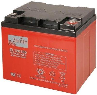 Zenith 12 volt 40Ah AGM - Deep Cycle Accu