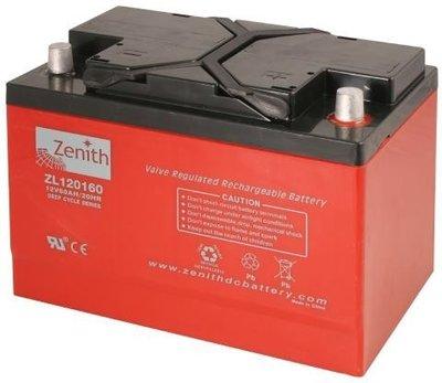 Zenith 12 volt 60Ah AGM - Deep Cycle Accu