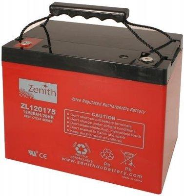 Zenith 12 volt 85Ah AGM - Deep Cycle Accu