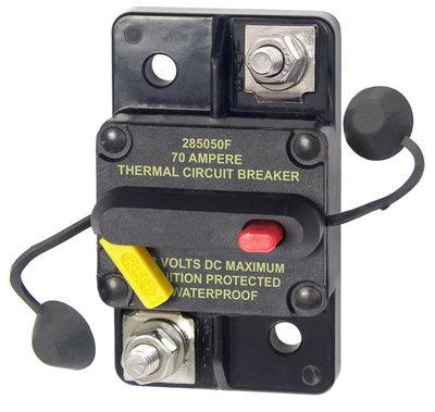 50 Ampere schakelbare / resetbare watersport zekering tot 48 Volt
