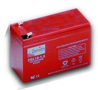 Zenith 12 volt 7.2Ah AGM - Deep Cycle Accu