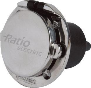 Walstroom stopcontact contactdoos CE r.v.s. 16A 250 Volt