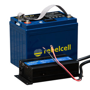 Rebelcell 12V140AV PACK LI-ION ACCU met bijpassende lader.