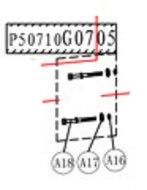Motor screws - P50710G0705