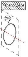 Rotor Shaft Holder o-ring - P50700G0606