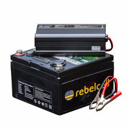 - Rebelcell 12v 25Ah Angling li - ion Accu met li - ion 8A acculader